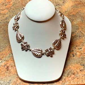 925 Sterling Silver Flower Necklace Made in México